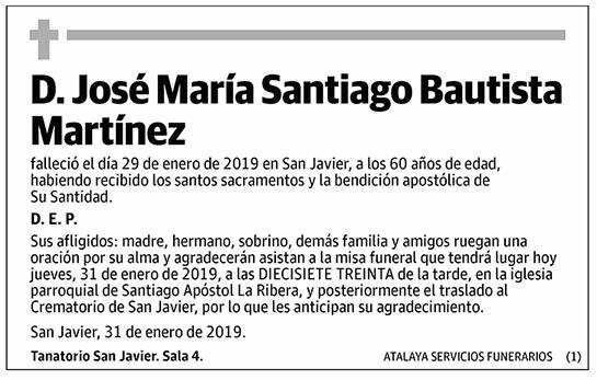 José María Santiago Bautista Martínez