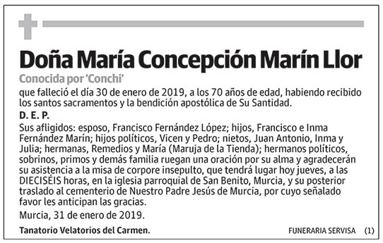 María Concepción Marín Llor