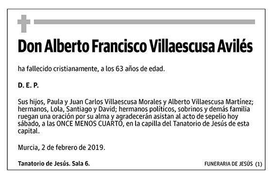 Alberto Francisco Villaescusa Avilés