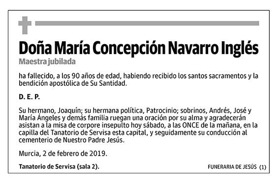 María Concepción Navarro Inglés