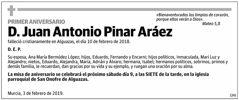 Juan Antonio Pinar Aráez