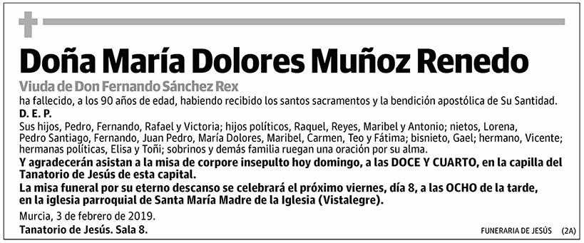 María Dolores Muñoz Renedo