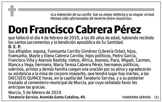 Francisco Cabrera Pérez