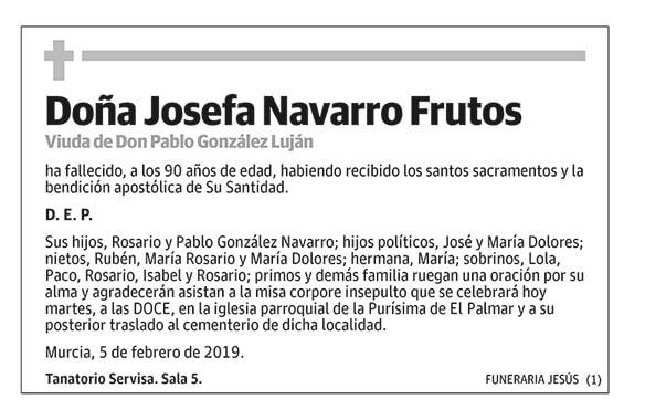 Josefa Navarro Frutos