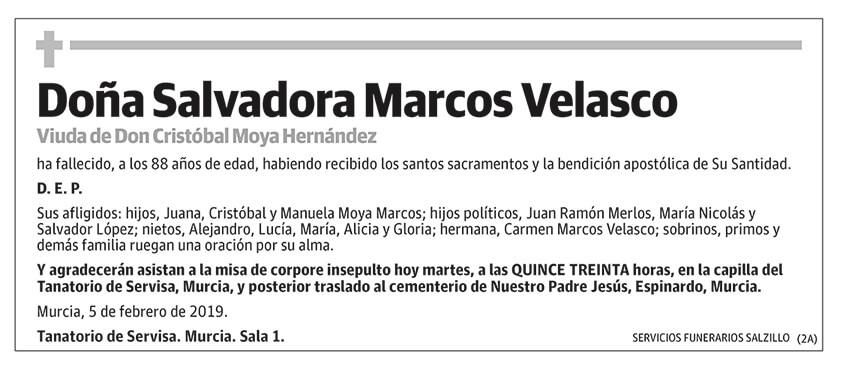 Salvadora Marcos Velasco