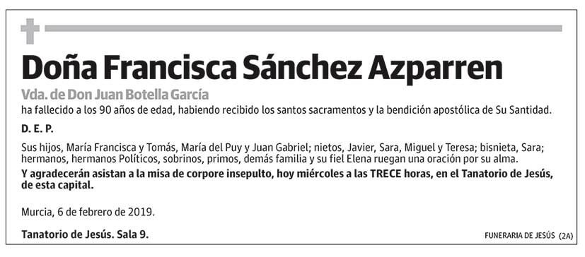 Francisca Sánchez Azparren