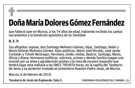 María Dolores Gómez Fernández