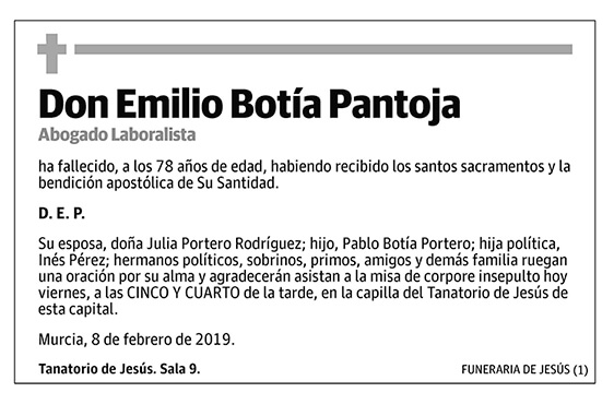 Emilio Botía Pantoja