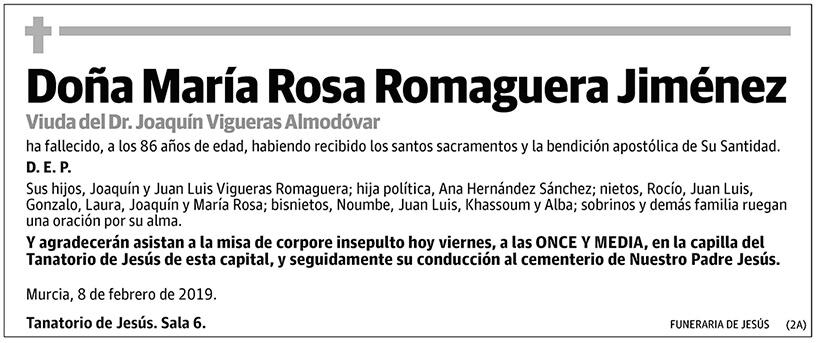 María Rosa Romaguera Jiménez