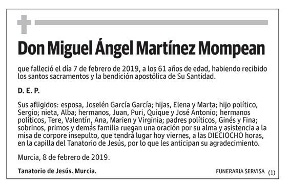 Miguel Ángel Martínez Mompean