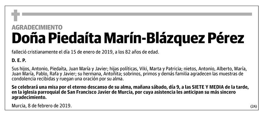 Piedraíta Marín-Blázquez Pérez