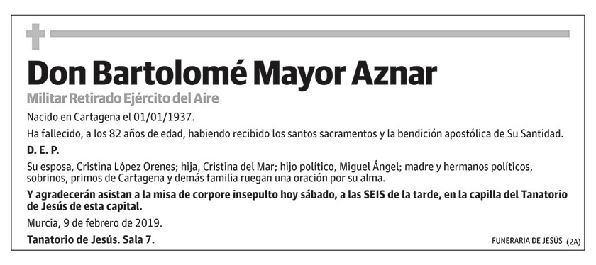 Bartolomé Mayor Aznar