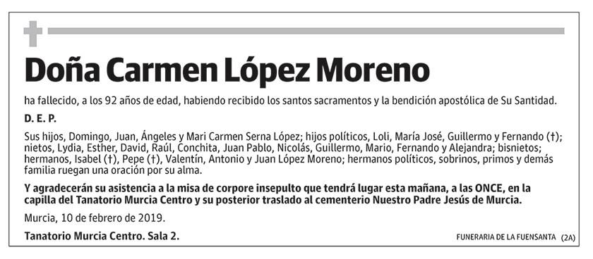 Carmen López Moreno