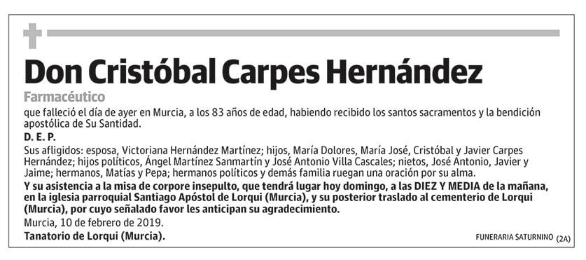 Cristóbal Carpes Hernández