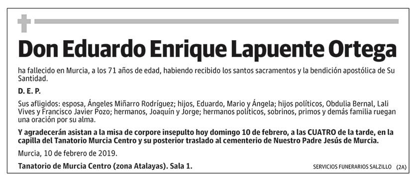 Eduardo Enrique Lapuente Ortega