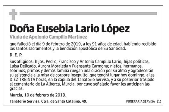 Eusebia Lario López