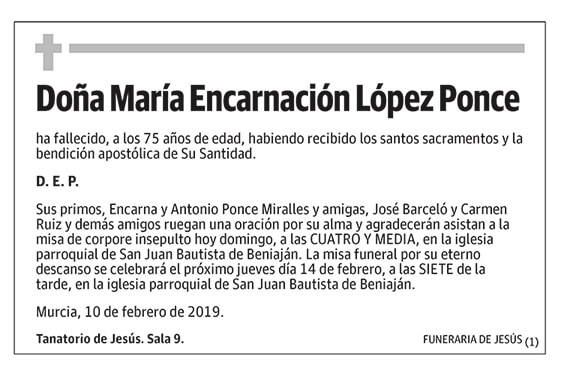 María Encarnación López Ponce