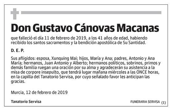 Gustavo Cánovas Macanas