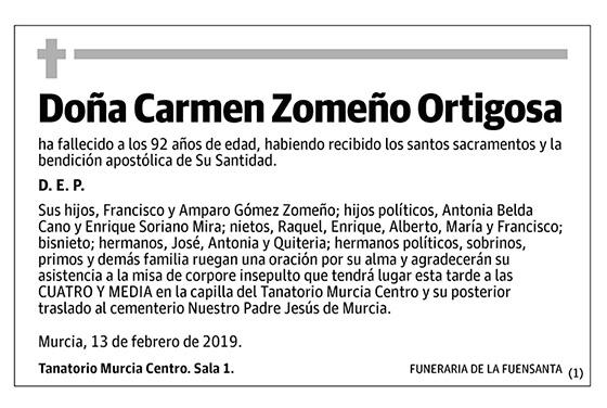 Carmen Zomeño Ortigosa