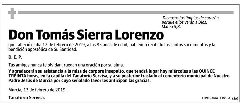 Tomás Sierra Lorenzo