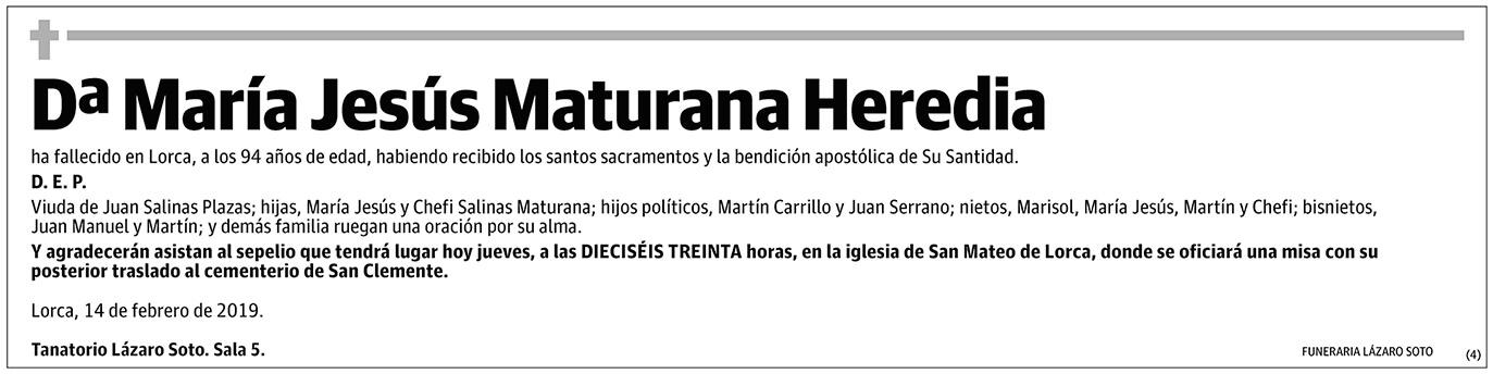 María Jesús Maturana Heredia