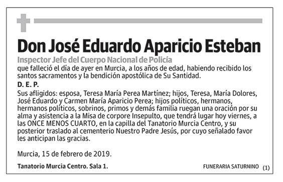 José Eduardo Aparicio Esteban