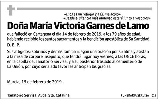 María Victoria Garnes de Lamo