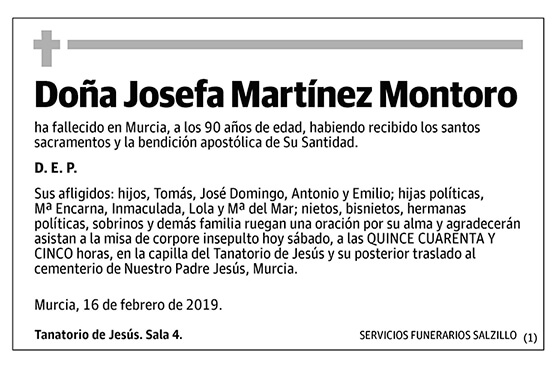 Josefa Martínez Montoro