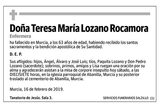 Teresa María Lozano Rocamora