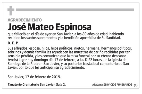 José Mateo Espinosa