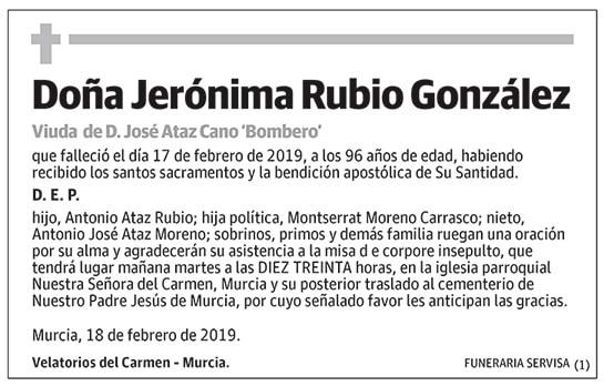 Jerónima Rubio González