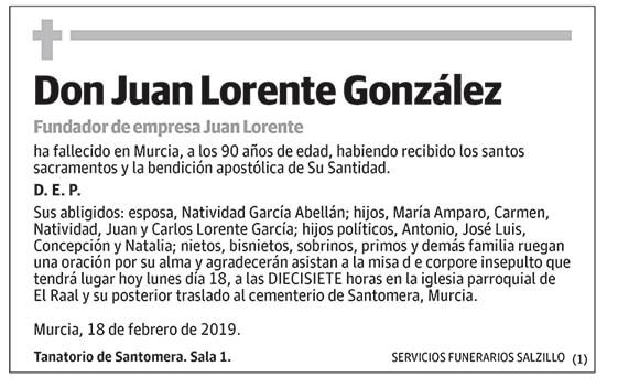 Juan Lorente González