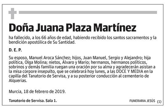 Juana Plaza Martínez