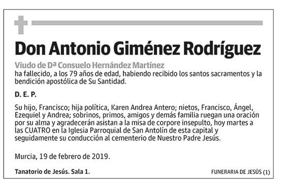 Antonio Giménez Rodríguez