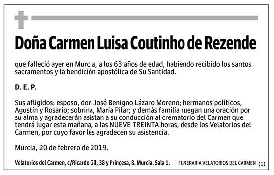 Carmen Luisa Coutinho de Rezende