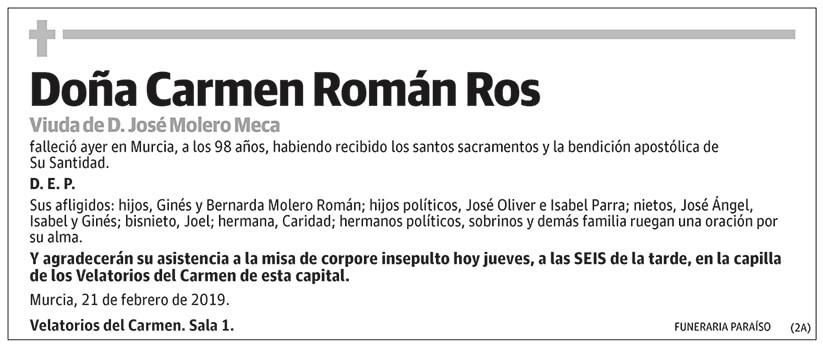 Carmen Román Ros