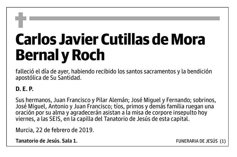 Carlos Javier Cutilla de Mora Bernal y Roch