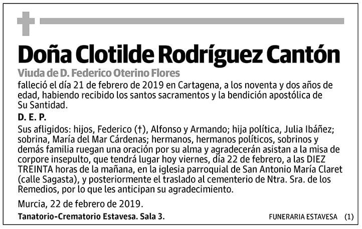 Clotilde Rodríguez Cantón