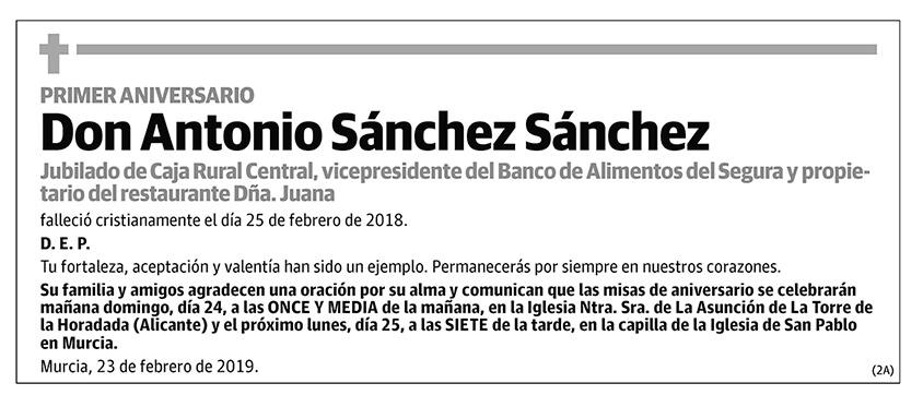 Antonio Sánchez Sánchez
