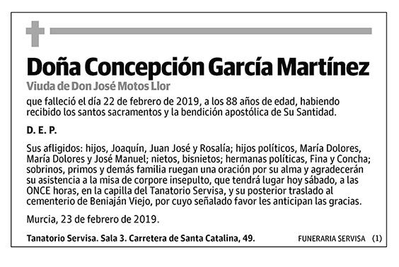 Concepción García Martínez