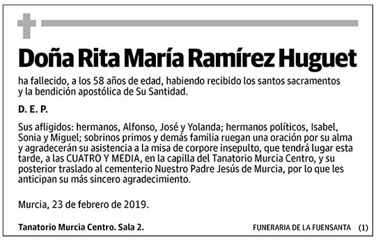Rita María Ramírez Huguet