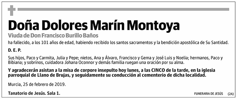 Dolores Marín Montoya