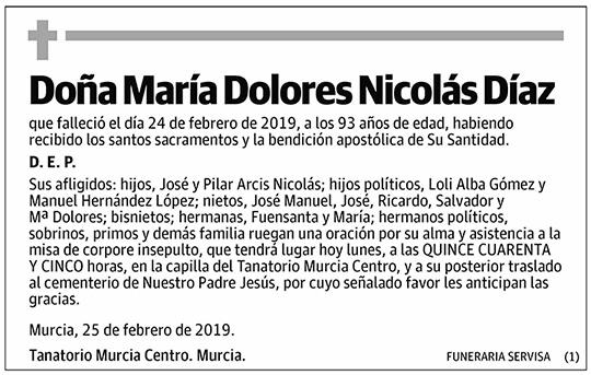 María Dolores Nicolás Díaz
