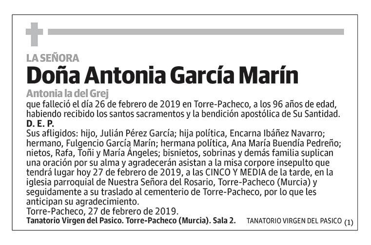 Antonia García Marín