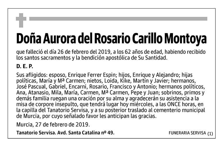 Aurora del Rosario Carillo Montoya