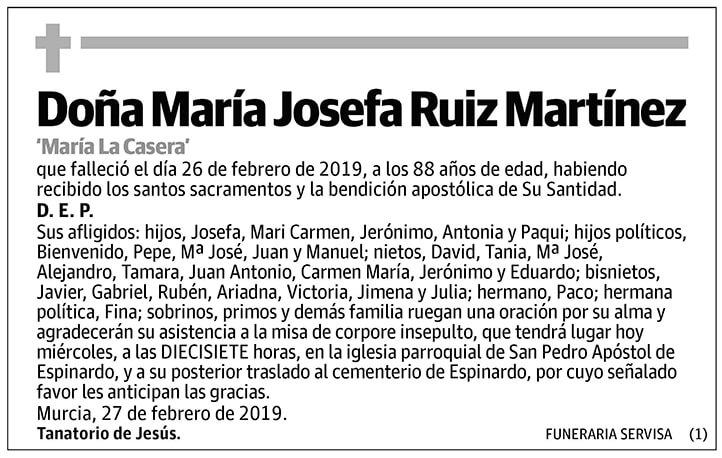 María Josefa Ruiz Martínez