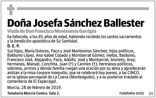 Josefa Sánchez Ballester