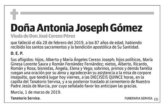 Antonia Joseph Gómez
