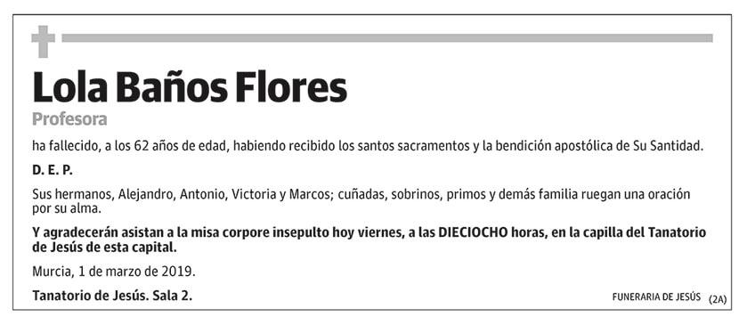 Lola Baños Flores
