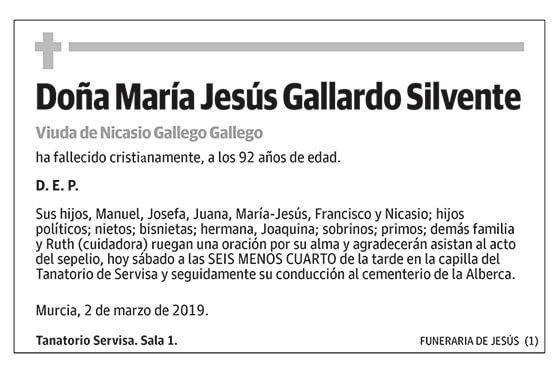 María Jesús Gallardo Silvente